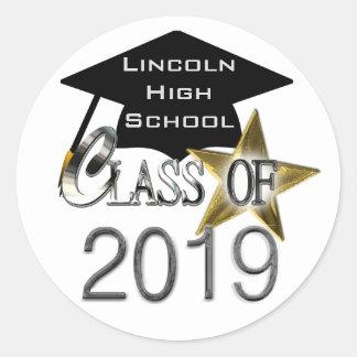 Class Of 2019 Graduation Seals Round Sticker