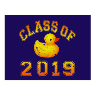 Class Of 2019 Rubber Duckie - Yellow Red 2 Postcards