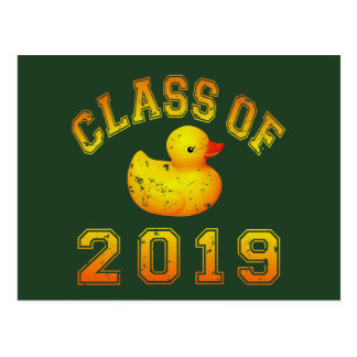 Class Of 2019 Rubber Duckie - Yellow/Red 2 Postcard