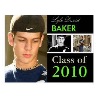 Class of 201x Graduation/DIY Fonts+Colors Postcard