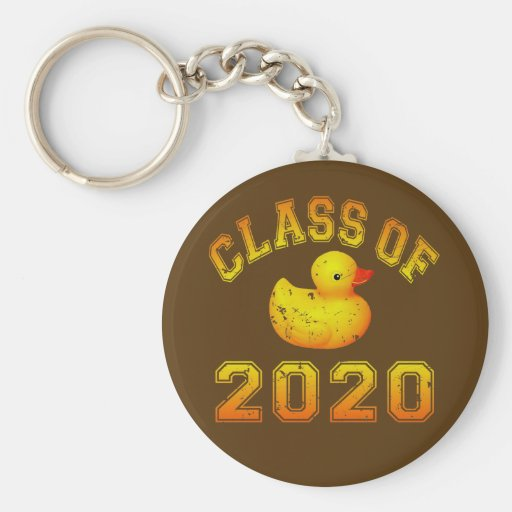Class Of 2020 Rubber Duckie - Yellow Keychain