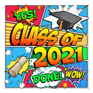 Class of 2021 Comic Book Card