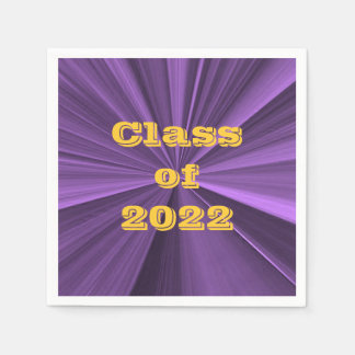 Class of 2022 Purple and Gold Napkins by Janz Disposable Napkin
