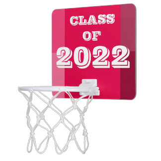 Class of 2022 Red White Basketball Hoop by Janz
