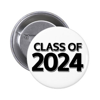 Class of 2024 6 cm round badge