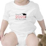 class of 2029 infant graduation baby creeper