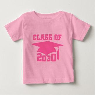 Class of 2030 Pink Grad Hat Baby T-Shirt