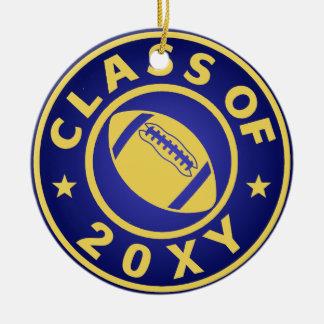 Class of 20?? Football Ceramic Ornament