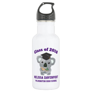 Class of 20xx Cute Koala Bear in Graduation Cap 532 Ml Water Bottle