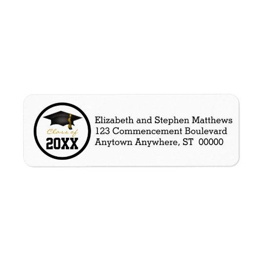 Class of 20xx Graduation Cap Return Address Label