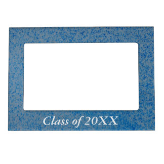 Class of 20XX magnetic frame - blue speckle
