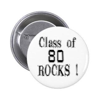 Class of '80 Rocks! Button