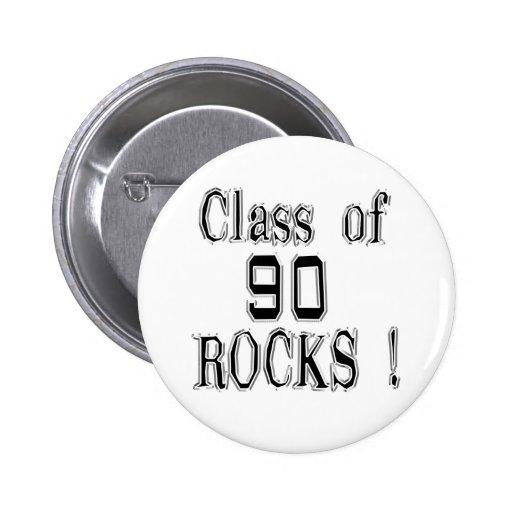 Class of '90 Rocks! Button