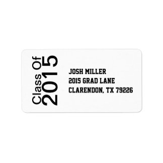 Class of Graduation Address Labels