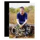 Class of Graduation Photo Announcement Invitation