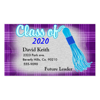 Class Of Plaid Graduation Pack Of Standard Business Cards