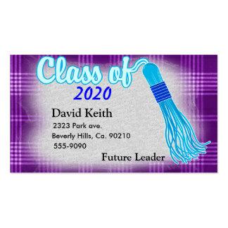 Class Of Plaid Graduation Set Pack Of Standard Business Cards