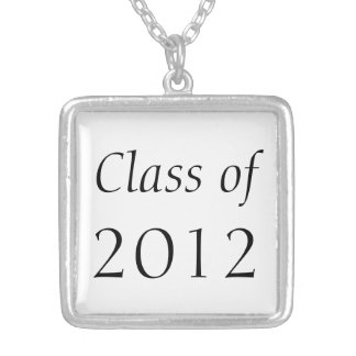 Class of **** silver plated necklace