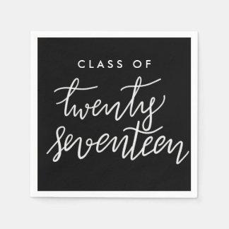 Class Of Twenty Seventeen Handwritten Graduate Paper Napkin