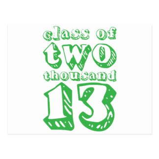 Class of two thousand 13 - Green Postcard