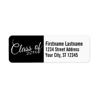 Class of with Custom Year and High School Return Address Label