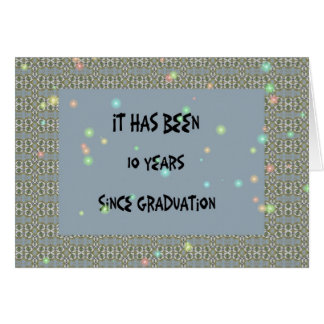 Class Reunion, 10 year, Slate Blue Digital Design Card