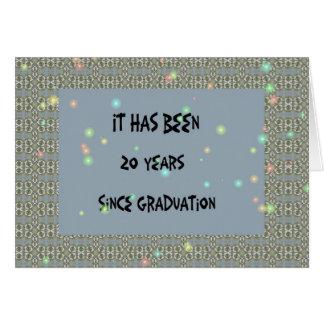 Class Reunion, 20 yrs. Slate Blue Card