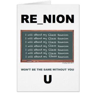 Class Reunion Card