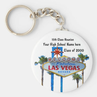 Class Reunion in Las Vegas Keychains