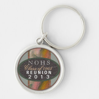 Class Reunion Silver-Colored Round Key Ring
