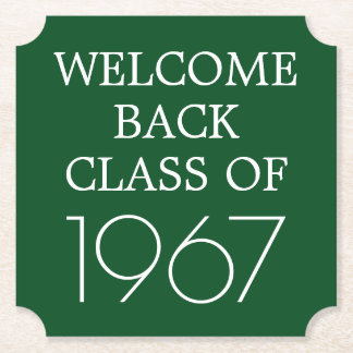 Class Reunion | Welcome Back Paper Coaster