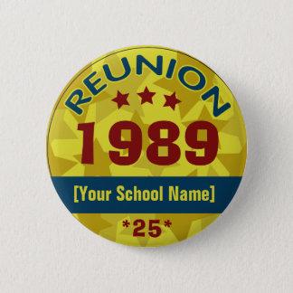 Class Reunion with Stars customizable 6 Cm Round Badge