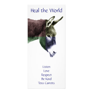 Class Rules Burro Make the World a Better Place Rack Card