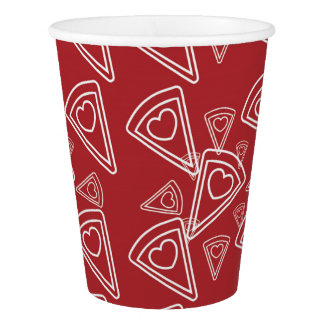 Class Valentine Pizza Party Cups
