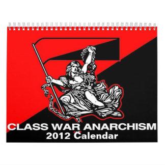 class war anarchism 2012 calender calendar