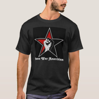 Class War Anarchism star t-shirt