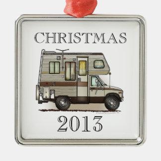 ClassC Camper RV Magnets Silver-Colored Square Decoration