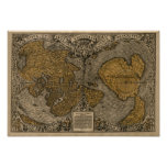 Classic 1531 Antique World Map by Oronce Fine
