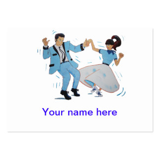 Classic 1950s 1960s rock and roll jive dancers business card
