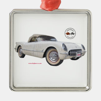 Classic_1954_Corvette_Texturized Metal Ornament