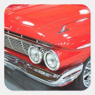 Classic 1961 Chevrolet Impala Square Sticker