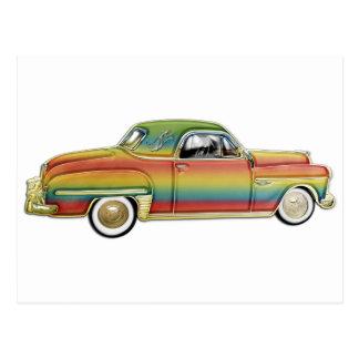 Classic 2 door hard top custom car postcard
