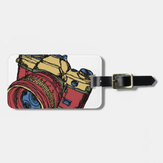 Classic 35mm SLR Camera Design Luggage Tag