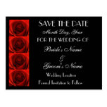 Classic 4 Red Roses Save the Date Wedding Postcard