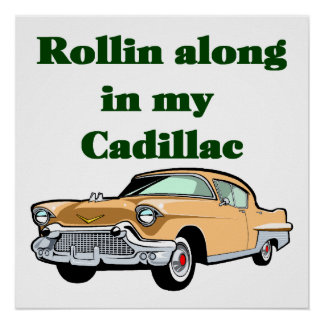 Classic 50's Cadillac Poster