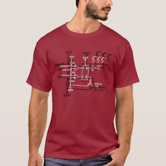 Classic 555 Timer Chip Schematic Circuit T-Shirt