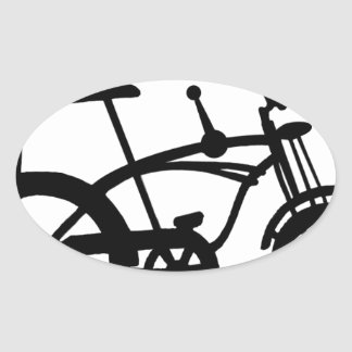 CLASSIC 60'S BIKE BICYLE SCHWINN STINGRAY BIKE OVAL STICKER