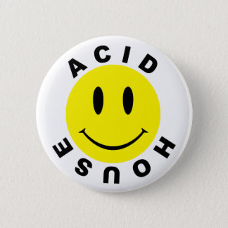 Classic Acid House Smiley 6 Cm Round Badge