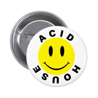 Classic Acid House Smiley 6 Cm Round Badge