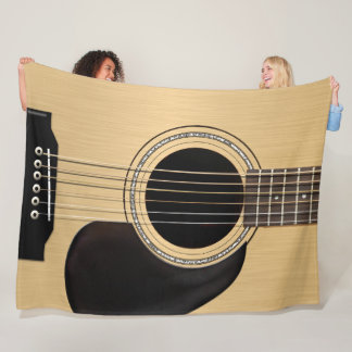Classic Acoustic Guitar Fleece Blanket